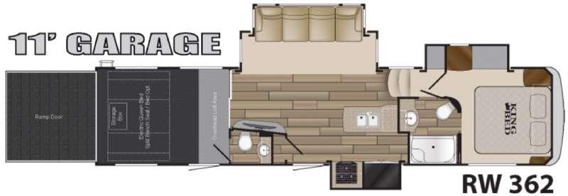 Road Warrior 362 Floorplan Image
