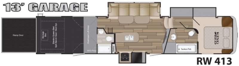 Floorplan - 2017 Heartland Road Warrior 413