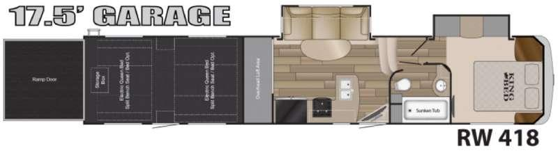 Road Warrior 418 Floorplan Image