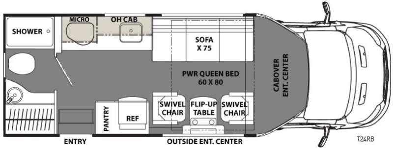 Floorplan - 2017 Coachmen RV Orion T24RB