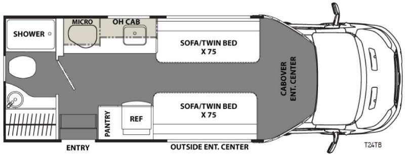 Orion T24TB Floorplan Image