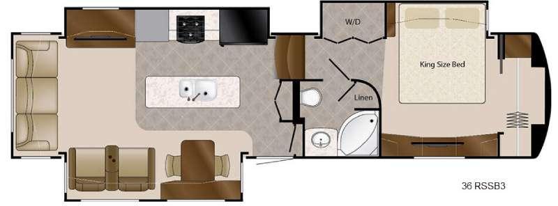 Floorplan - 2017 DRV Luxury Suites Mobile Suites 36 RSSB3