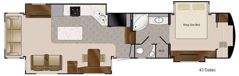 Mobile Suites 43 Dallas Floorplan Image