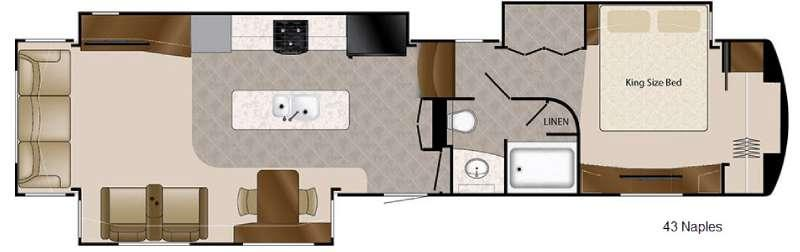 Mobile Suites 43 Naples Floorplan Image
