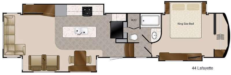Mobile Suites 44 Lafayette Floorplan Image