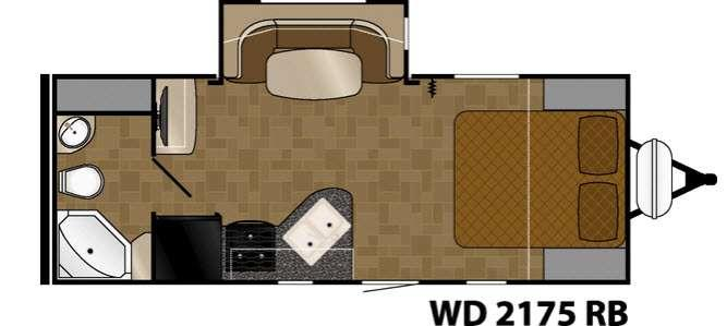 Floorplan - 2017 Heartland Wilderness 2175RB