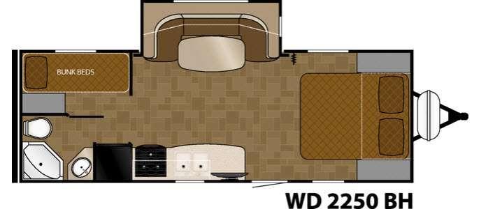 Wilderness 2250BH Floorplan Image