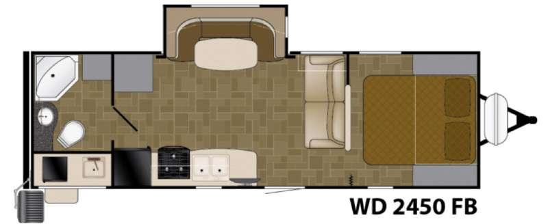 Floorplan - 2017 Heartland Wilderness 2450FB