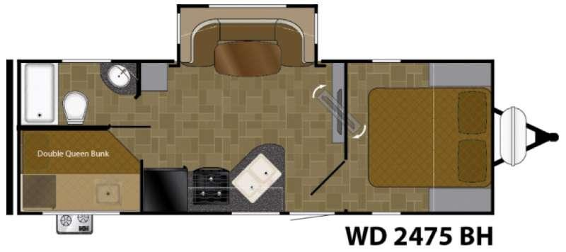Floorplan - 2017 Heartland Wilderness 2475BH