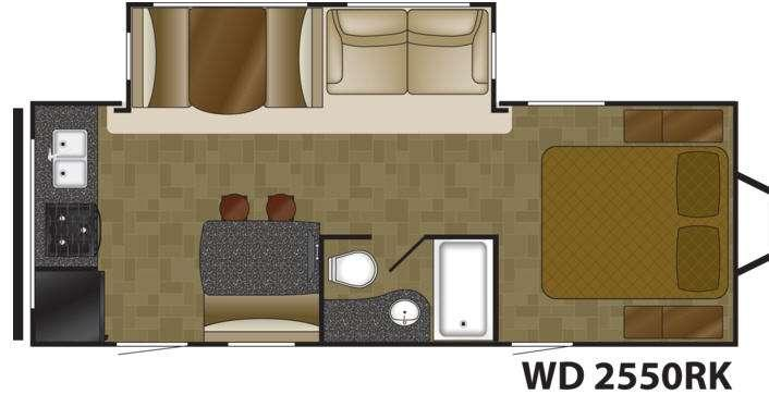 Floorplan - 2017 Heartland Wilderness 2550RK