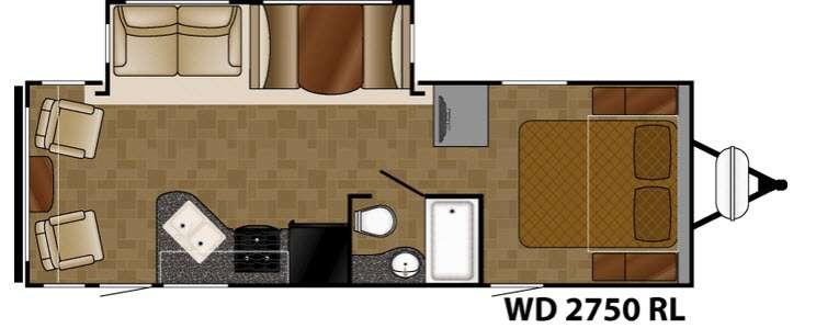Floorplan - 2017 Heartland Wilderness 2750RL