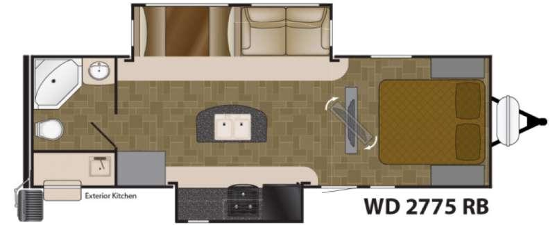 Floorplan - 2017 Heartland Wilderness 2775RB