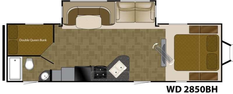 Wilderness 2850BH Floorplan Image