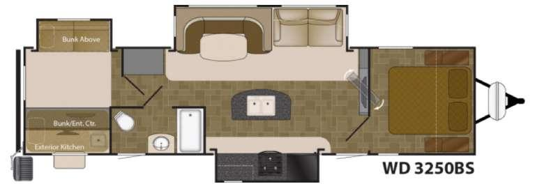 Floorplan - 2017 Heartland Wilderness 3250BS