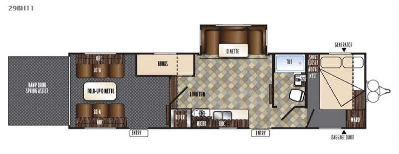 Vengeance Touring Edition 29BH11 Floorplan Image