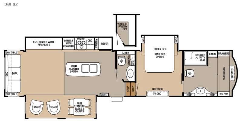 Floorplan - 2017 Forest River RV Cedar Creek Hathaway Edition 38FB2