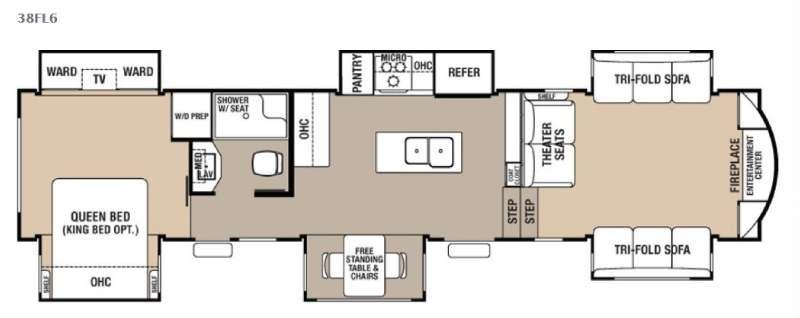 Cedar Creek Hathaway Edition 38FL6 Floorplan Image
