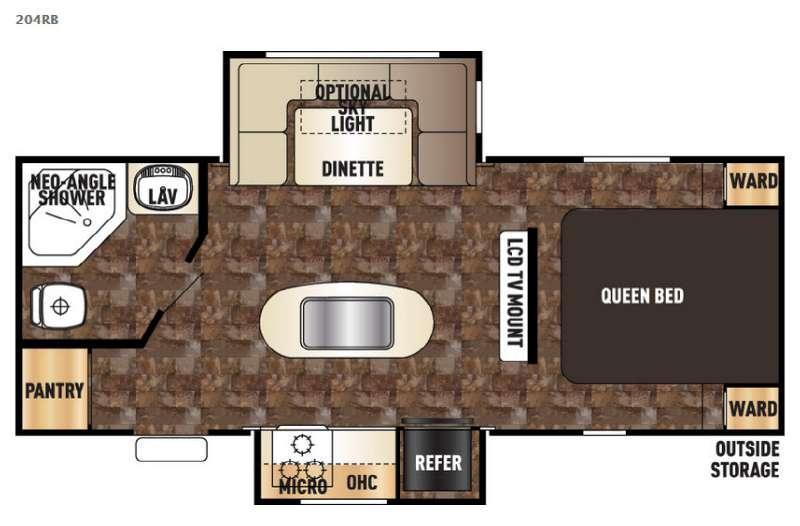 Cherokee 204RB Floorplan Image