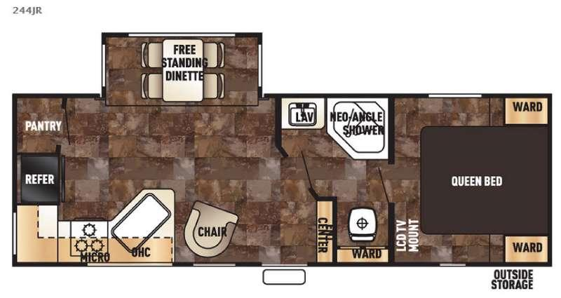Floorplan - 2017 Forest River RV Cherokee 244JR
