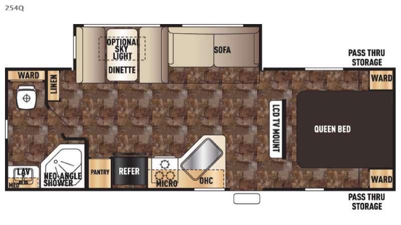 Cherokee 254Q Floorplan Image