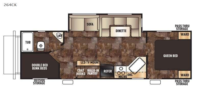 Floorplan - 2017 Forest River RV Cherokee 264CK