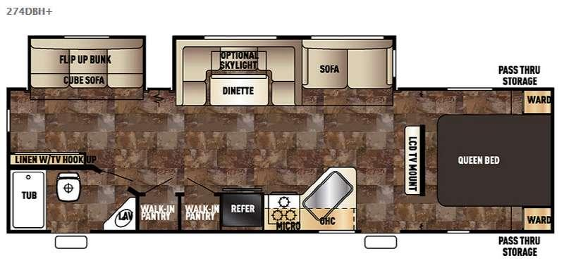 Cherokee 274DBHplus Floorplan Image