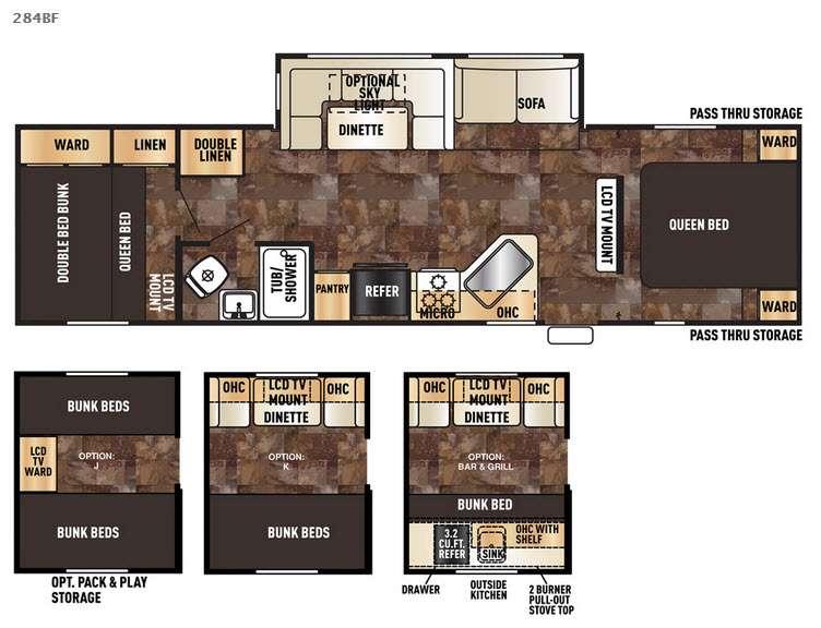 Cherokee 284BF Floorplan Image