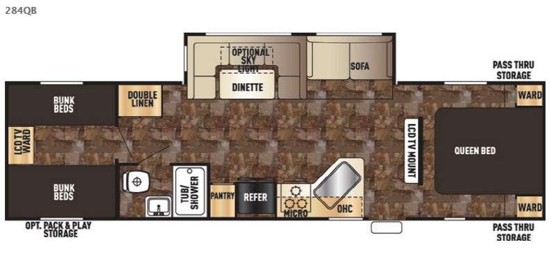 Cherokee 284QB Floorplan Image