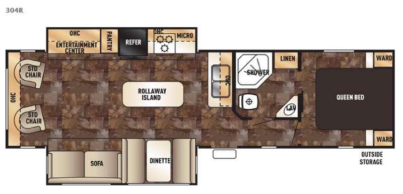 Cherokee 304R Floorplan