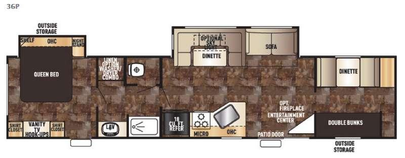 Floorplan - 2017 Forest River RV Cherokee 36P