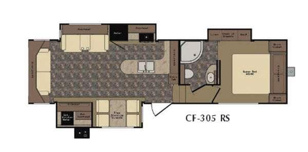 Cruiser CF305RS Floorplan Image