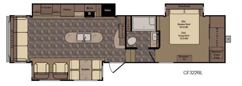 Cruiser CF322RL Floorplan Image