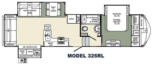 Columbus F325RL Floorplan Image