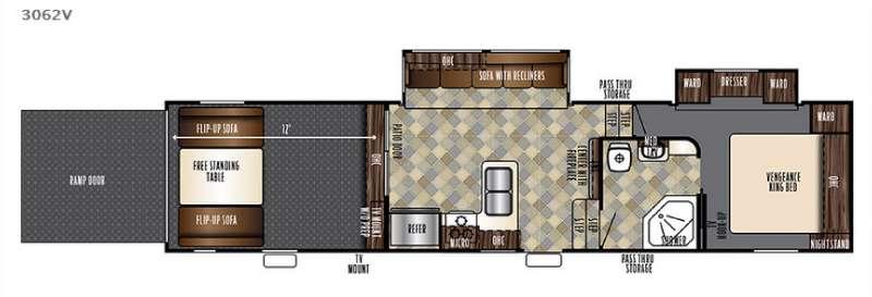 Floorplan - 2017 Forest River RV Vengeance 3062V