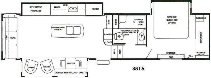 RiverStone 38TS Floorplan Image