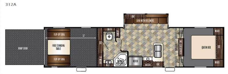Floorplan - 2017 Forest River RV Vengeance Super Sport 312A