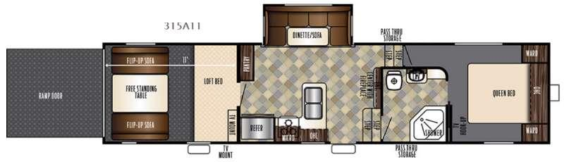 Floorplan - 2017 Forest River RV Vengeance Super Sport 315A11