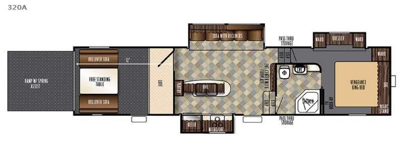 Floorplan - 2017 Forest River RV Vengeance Super Sport 320A