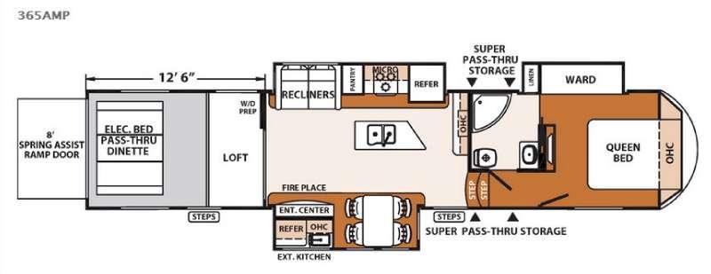 XLR Thunderbolt 365AMP Floorplan Image