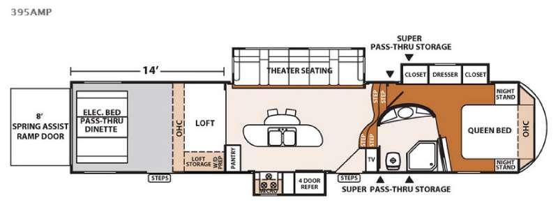 XLR Thunderbolt 395AMP Floorplan Image