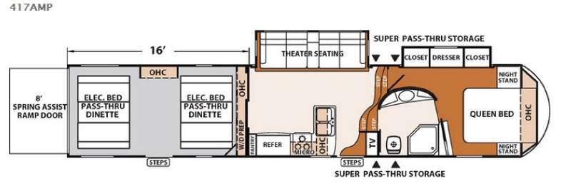XLR Thunderbolt 417AMP Floorplan Image