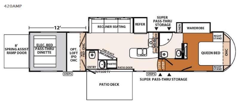 XLR Thunderbolt 420AMP Floorplan Image