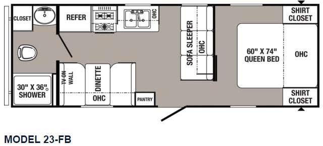 Puma 23-FB Floorplan Image