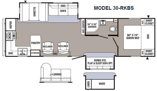 Floorplan - 2017 Palomino Puma 30-RKBS