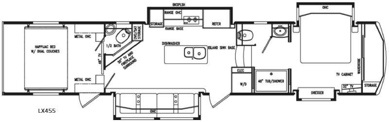 Floorplan - 2017 DRV Luxury Suites FullHouse LX455