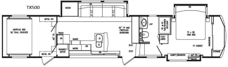FullHouse TX500 Floorplan Image