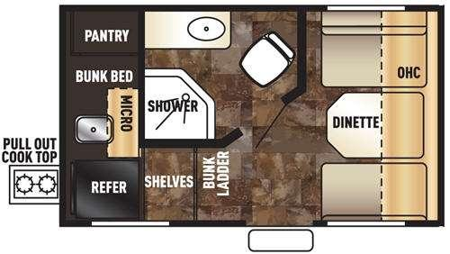 Floorplan - 2017 Forest River RV Cherokee Wolf Pup 13CJ