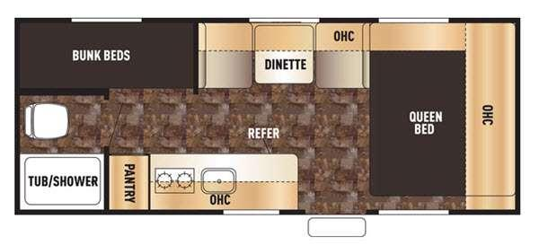 Floorplan - 2017 Forest River RV Cherokee Wolf Pup 16BHS