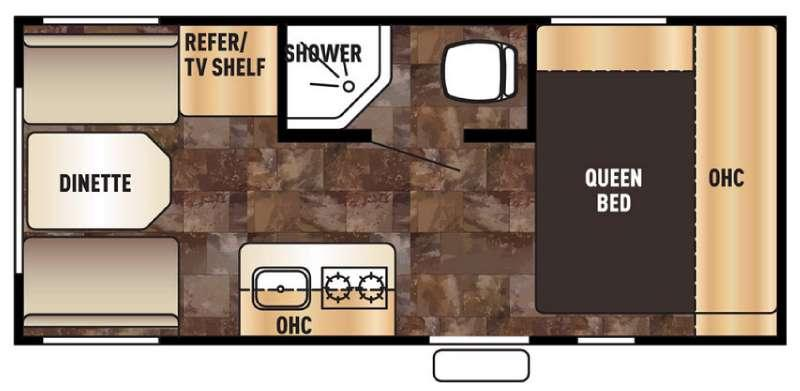 Floorplan - 2017 Forest River RV Cherokee Wolf Pup 17CJ