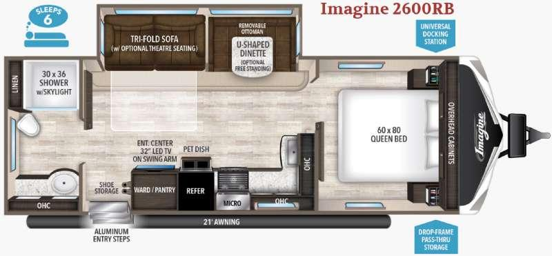 Floorplan - 2017 Grand Design Imagine 2600RB